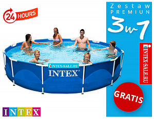 Бассейн каркасный Intex Metal Frame Pool, 366х76 см 28210/56994